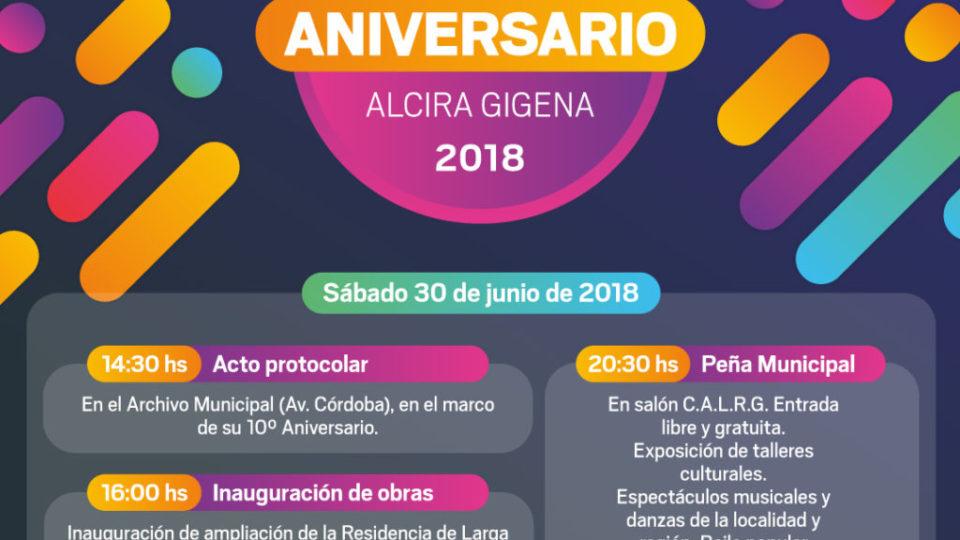 Placa 107 Aniversario AG2018-01